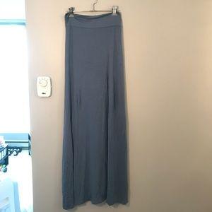 2 for $20🔥Blue slit maxi skirt